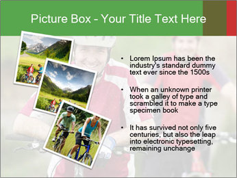 Smiling cyclists PowerPoint Template - Slide 17