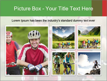 Smiling cyclists PowerPoint Template - Slide 19