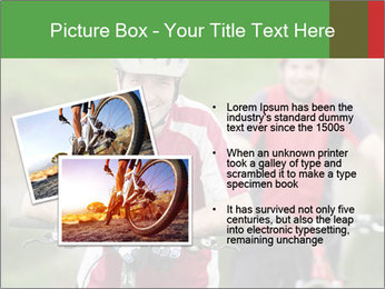 Smiling cyclists PowerPoint Template - Slide 20
