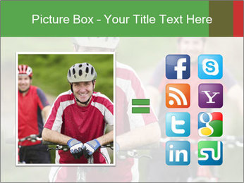 Smiling cyclists PowerPoint Template - Slide 21