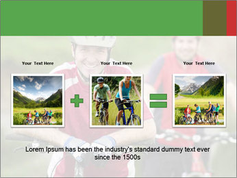 Smiling cyclists PowerPoint Template - Slide 22
