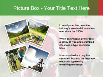 Smiling cyclists PowerPoint Template - Slide 23