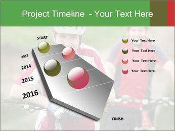 Smiling cyclists PowerPoint Template - Slide 26