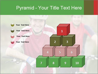 Smiling cyclists PowerPoint Template - Slide 31
