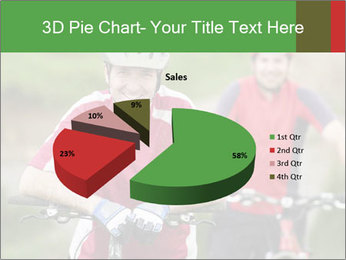 Smiling cyclists PowerPoint Template - Slide 35