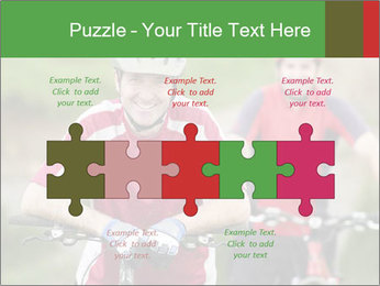 Smiling cyclists PowerPoint Template - Slide 41