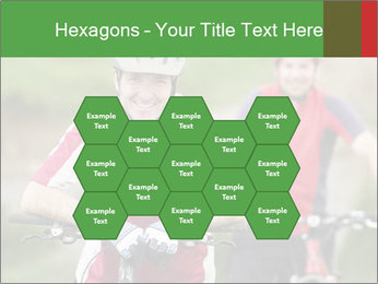 Smiling cyclists PowerPoint Template - Slide 44