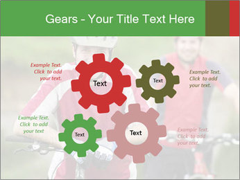 Smiling cyclists PowerPoint Template - Slide 47
