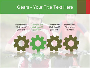 Smiling cyclists PowerPoint Template - Slide 48