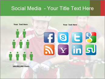 Smiling cyclists PowerPoint Template - Slide 5