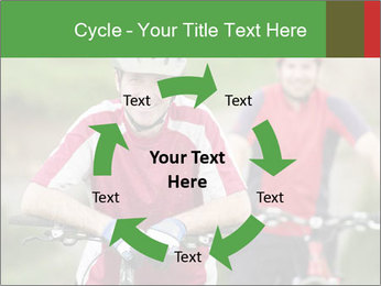 Smiling cyclists PowerPoint Template - Slide 62