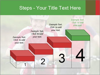 Smiling cyclists PowerPoint Template - Slide 64