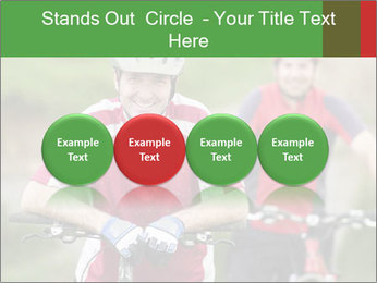 Smiling cyclists PowerPoint Template - Slide 76