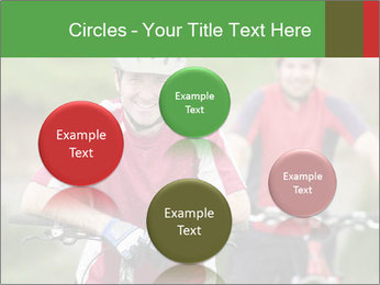 Smiling cyclists PowerPoint Template - Slide 77