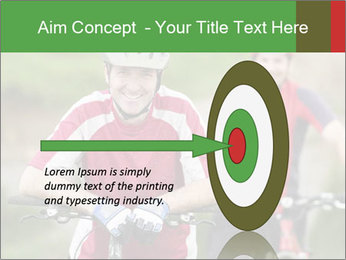 Smiling cyclists PowerPoint Template - Slide 83