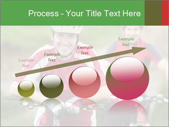 Smiling cyclists PowerPoint Template - Slide 87
