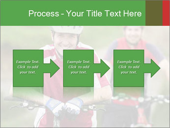 Smiling cyclists PowerPoint Template - Slide 88