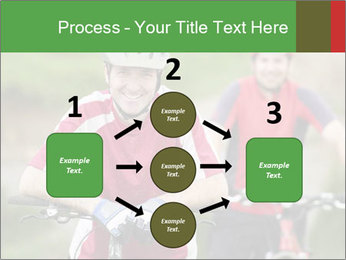 Smiling cyclists PowerPoint Template - Slide 92
