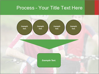 Smiling cyclists PowerPoint Template - Slide 93