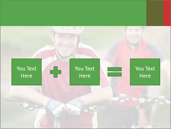 Smiling cyclists PowerPoint Template - Slide 95