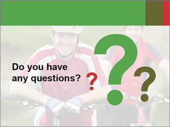 Smiling cyclists PowerPoint Template - Slide 96