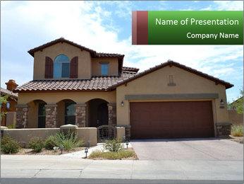 New Luxury Home in Scottsdale PowerPoint Template - Slide 1