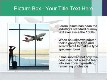 Girl at the airport PowerPoint Templates - Slide 13