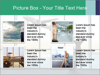 Girl at the airport PowerPoint Template - Slide 14