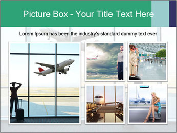 Girl at the airport PowerPoint Template - Slide 19