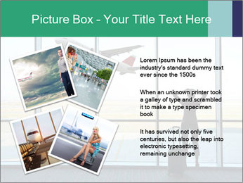 Girl at the airport PowerPoint Template - Slide 23