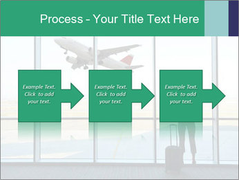 Girl at the airport PowerPoint Template - Slide 88