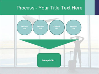 Girl at the airport PowerPoint Template - Slide 93