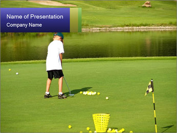 Golf course PowerPoint Templates - Slide 1