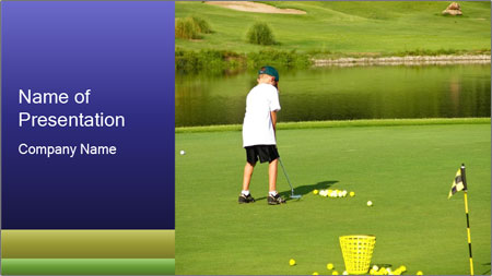 Golf course PowerPoint Template