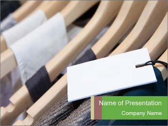 Designer clothes store PowerPoint Template - Slide 1