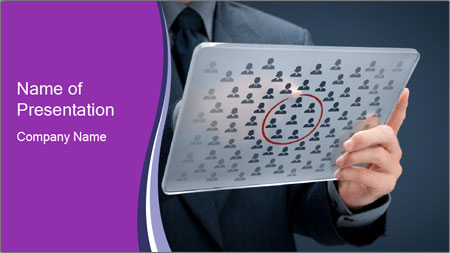 Marketing segmentation concept PowerPoint Template