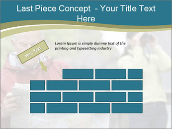 Man reading map PowerPoint Template - Slide 46
