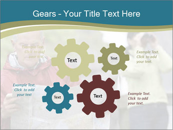Man reading map PowerPoint Template - Slide 47