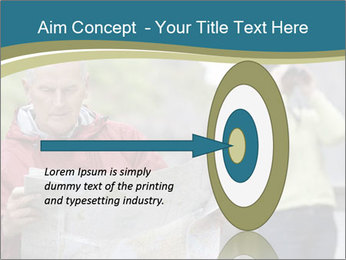 Man reading map PowerPoint Template - Slide 83