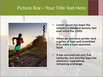 A young woman running PowerPoint Template - Slide 13