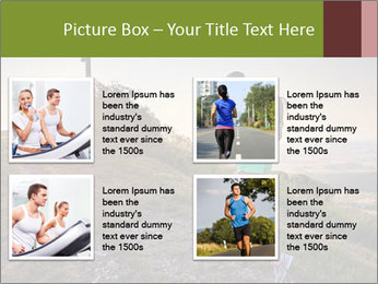 A young woman running PowerPoint Template - Slide 14