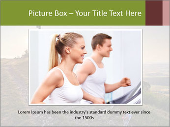 A young woman running PowerPoint Template - Slide 15