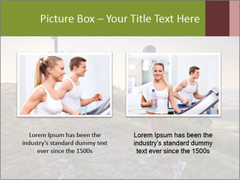 A young woman running PowerPoint Template - Slide 18