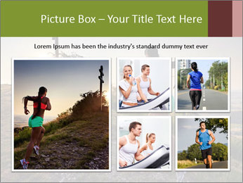 A young woman running PowerPoint Template - Slide 19