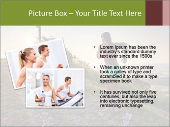 A young woman running PowerPoint Template - Slide 20