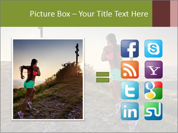 A young woman running PowerPoint Template - Slide 21