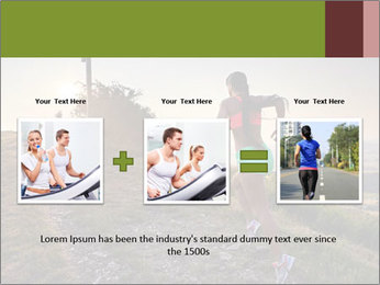 A young woman running PowerPoint Template - Slide 22