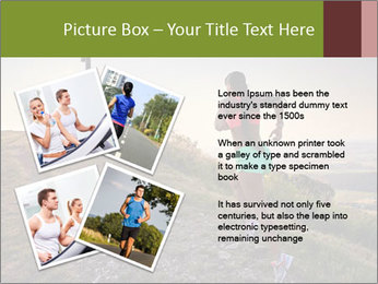 A young woman running PowerPoint Template - Slide 23