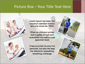 A young woman running PowerPoint Template - Slide 24