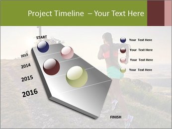 A young woman running PowerPoint Template - Slide 26